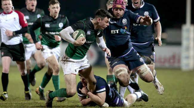 Matt D'Arcy in action for the Ireland Club team in 2018