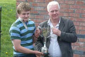 St. Gerard's captain Steve Crosbie receives the Rice Cup