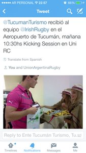 Johnny Sexton in Tucuman Airport