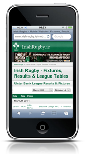 IrishRugby.ie/mobile