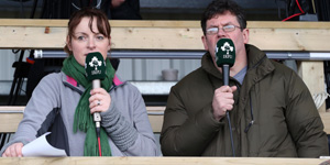 Fiona Steed and Adrian O'Farrell of Irish Rugby TV