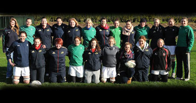 The Munster U-18 Girls meet the Ireland Women's Team