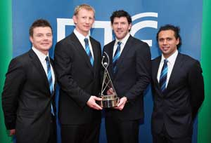 Leinster win the RTE Sports Team Of The Year Award