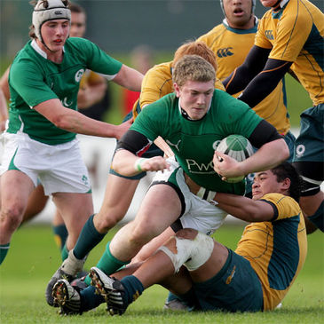 Flanker Aaron Spring carries forward for Ireland