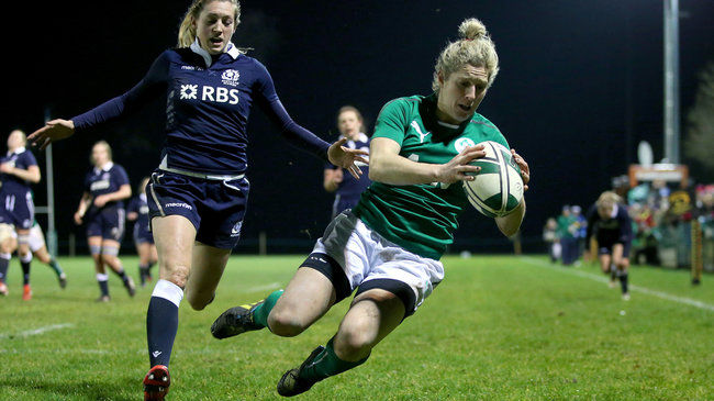 Alison Miller on the attack for Ireland