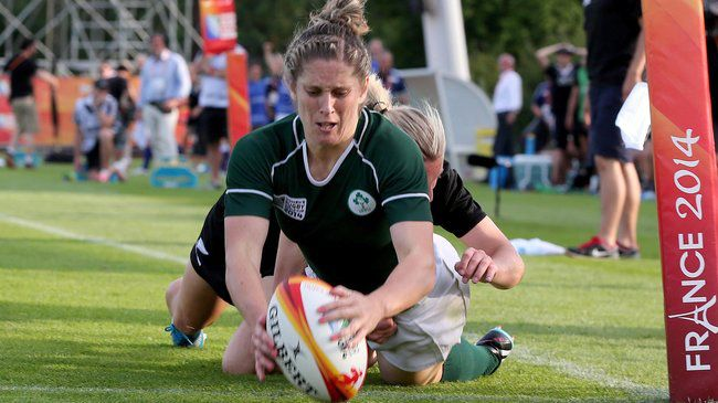 Alison Miller touches down for Ireland