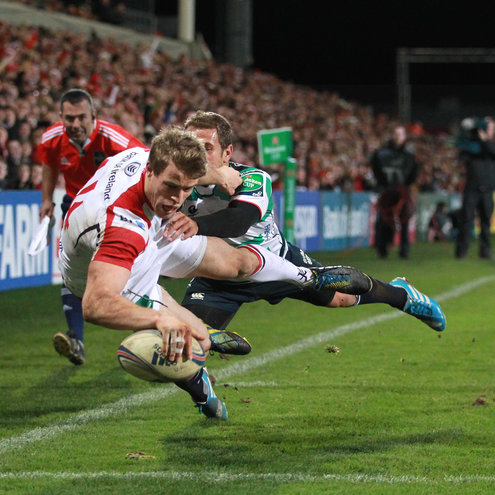 Andrew Trimble touches down for Ulster