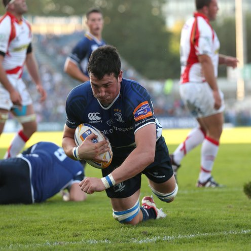 Ben Marshall marked his home debut for Leinster with a try