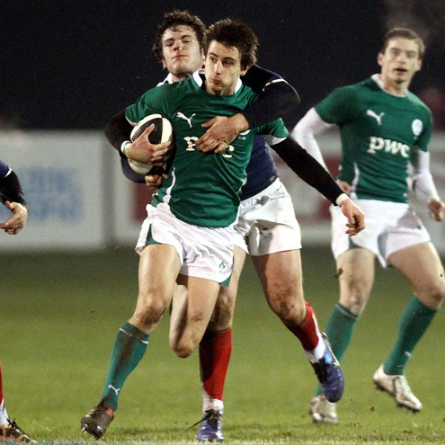 Blane McIlroy in action for the Ireland U-20s