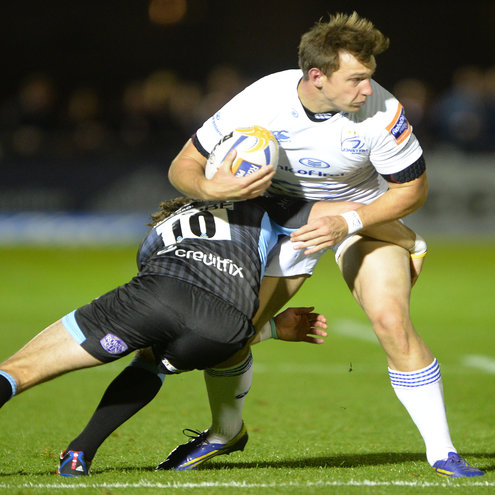 Brendan Macken in action against Glasgow Warriors