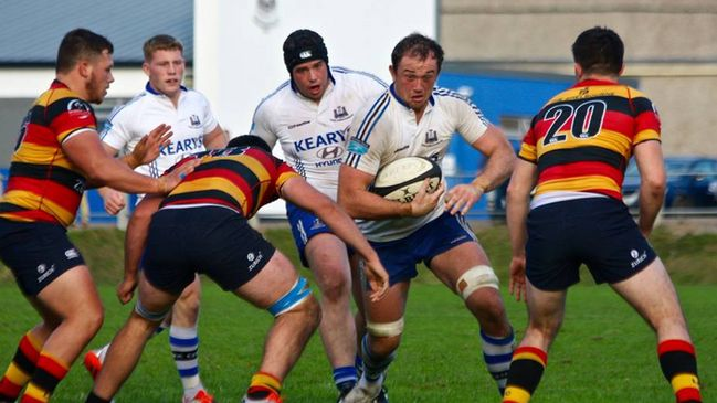 Man-of-the-match Brian Hayes in action against Lansdowne