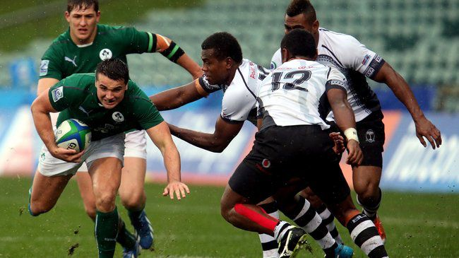 Cian Kelleher leads an attack for the Ireland U-20s