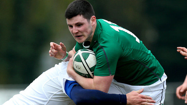 Winger Cian O'Donoghue crossed for Ireland's try