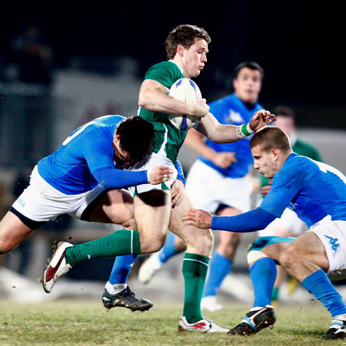 Craig Gilroy takes the ball on for the Ireland U-20s