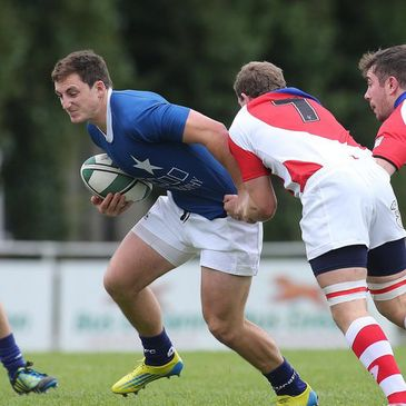 Darren Hudson touched down twice against Garryowen
