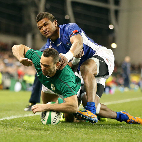Dave Kearney breaks through for his first international try