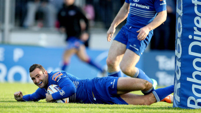 Dave Kearney touches down for Leinster