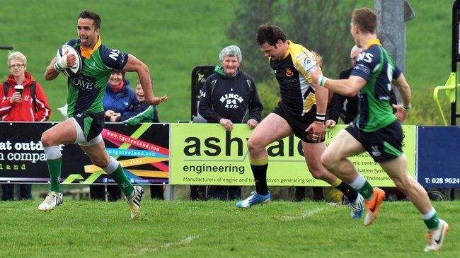 David McIlwaine breaks through to score a try