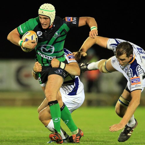 Try scorer David McSharry in action for Connacht