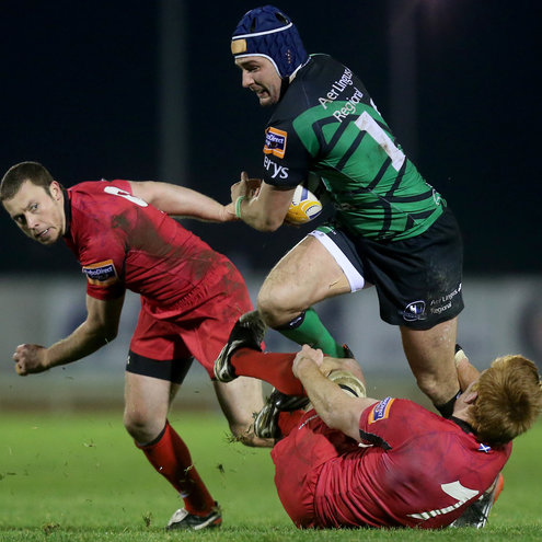 Connacht centre David McSharry crashes through