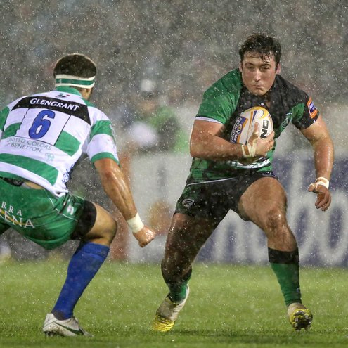 Prop Denis Buckley carries the ball forward for Connacht