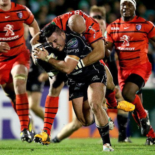Connacht's Denis Buckley in action against Toulouse