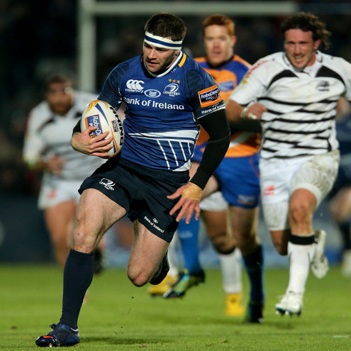 Fergus McFadden makes a break for Leinster