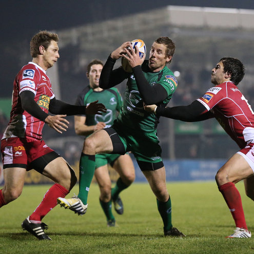 Connacht's Gavin Duffy on the attack