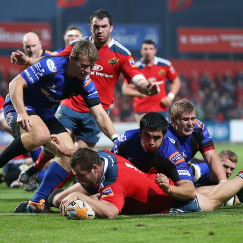 James Cronin broke through for Munster's first try