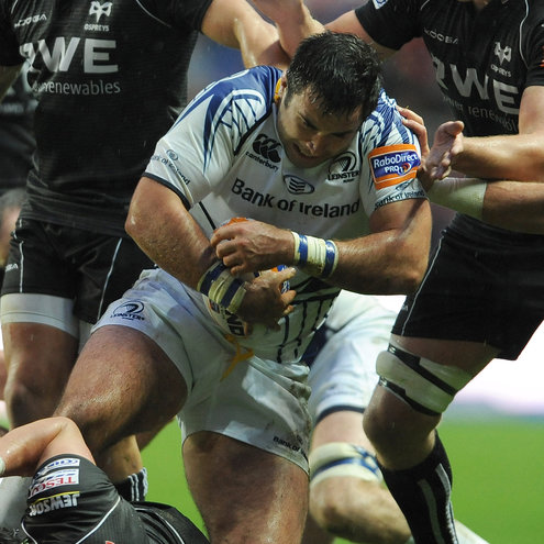 Jamie Hagan in action against the Ospreys