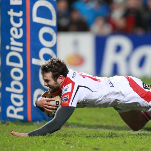 Jared Payne touches down for Ulster