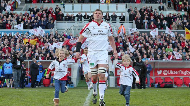 Johann Muller runs out for his last game at Ravenhill