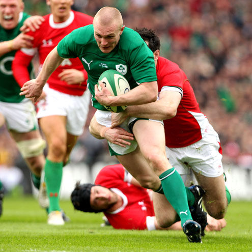 Keith Earls scored two tries against Wales last year