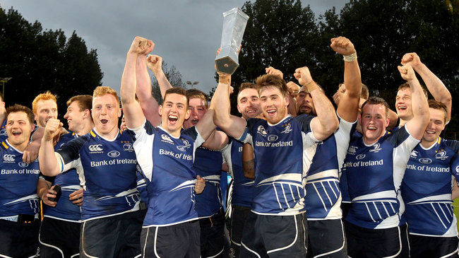Captain Dominic Ryan lifts the British & Irish Cup