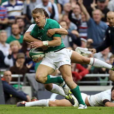 Luke Fitzgerald helped to create Ireland's second try