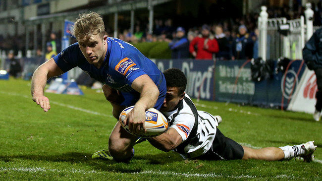 Luke Fitzgerald scores Leinster's third try