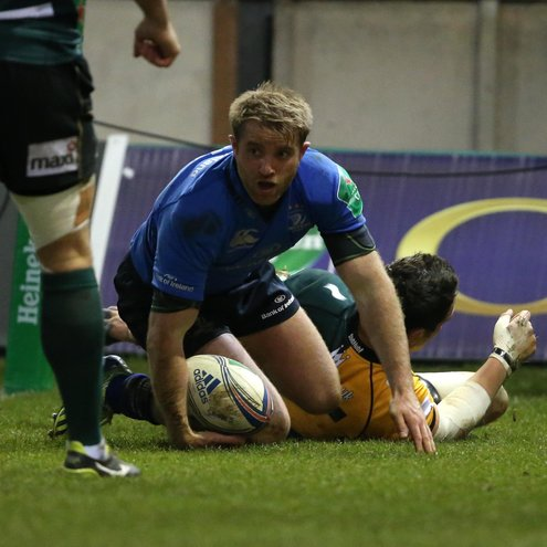 Luke Fitzgerald crossed in the opening minutes for Leinster's first try