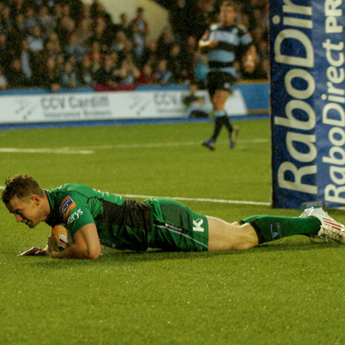 Matt Healy scored the only try of the game