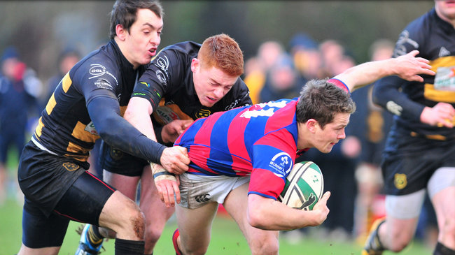 Clontarf's Max McFarland in possession