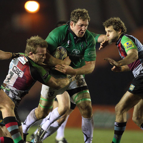 Connacht's Michael Swift in action against Harlequins
