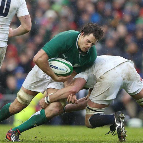 Ireland lock Mike McCarthy crashes forward
