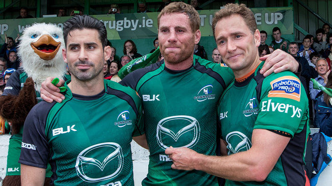 Connacht's Frank Murphy, Gavin Duffy and Dan Parks