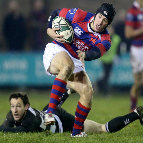 Leinster's Noel Reid in action for Clontarf