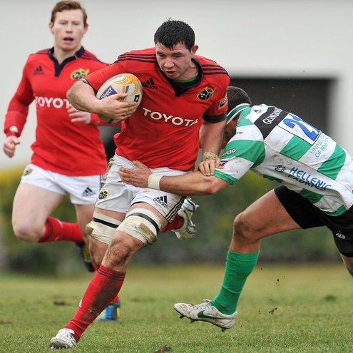 Young back rower Paddy Butler in action for Munster