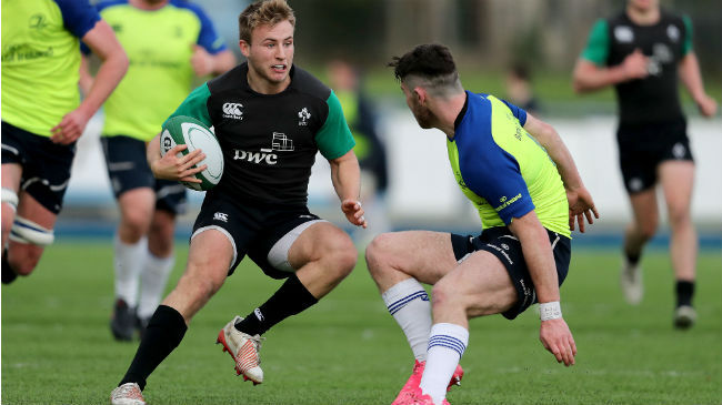 Jonny Stewart in action for the Ireland Under-20s