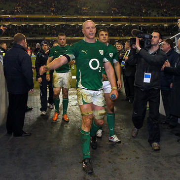 Ireland's Paul O'Connell at the Aviva Stadium
