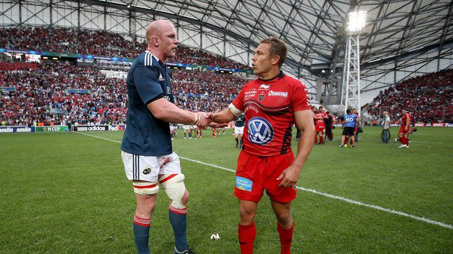 Paul O'Connell and Jonny Wilkinson