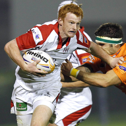 Try scorer Peter Nelson in action against Benetton Treviso