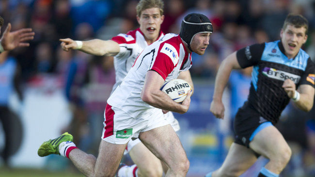 Ricky Andrew races forward for Ulster