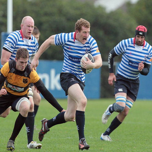Rob Keogh in action for Blackrock College